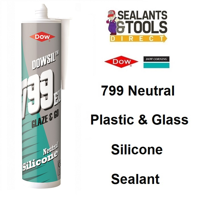 Dow Corning Dowsil 799 Plastic Glass Silicone Sealant White Clear