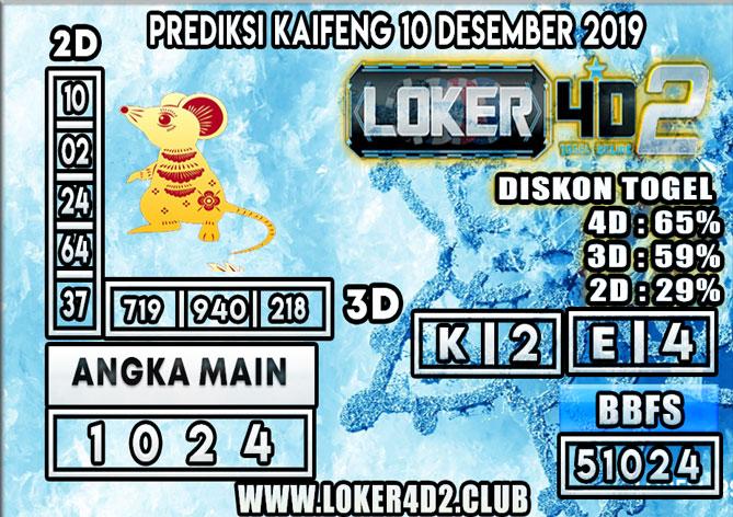 PREDIKSI TOGEL KAIFENG POOLS LOKER4D2 10 DESEMBER 2019