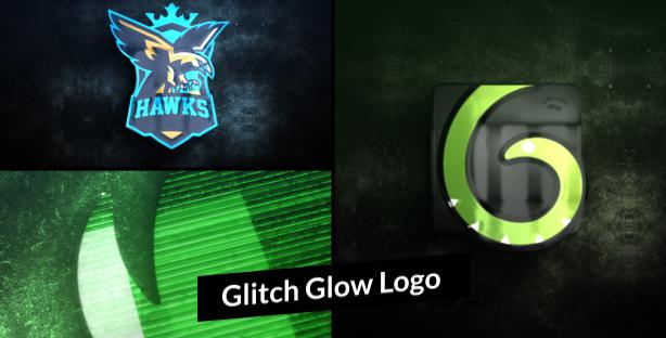 Glitch-Glow-Logo-Reveal