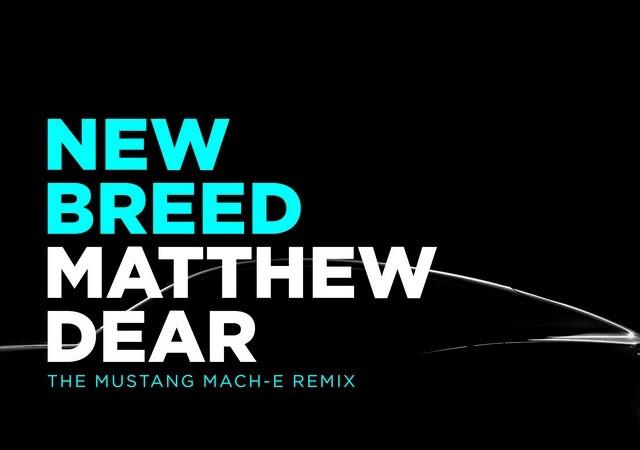Les sons de la Mustang Mach-E inspirent un nouveau morceau d'un célèbre compositeur électro Matthew-Dear-New-Breed-Cover-Art