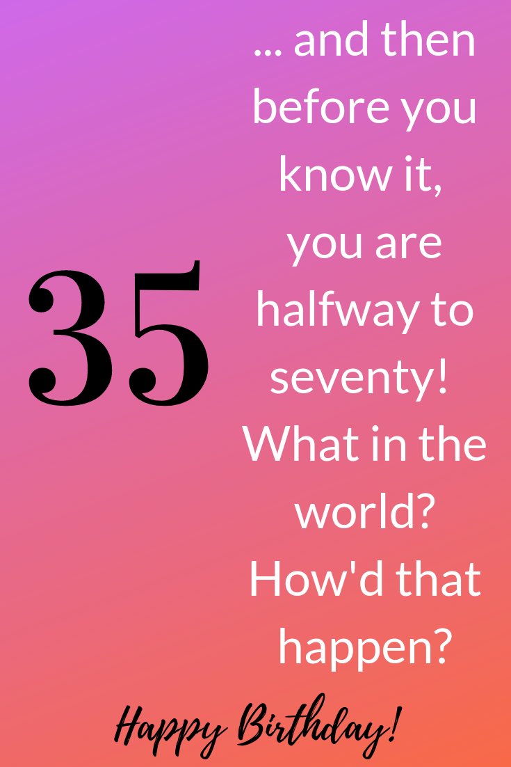 Just what is the importance of 35th birthday? Think about it - just like that you are halfway to 70! Here are 35 reflections on turning 35. #35thbirthday