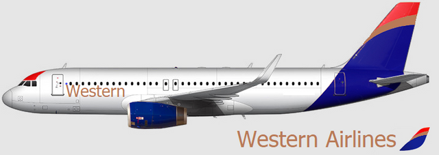 Western Airlines Livery