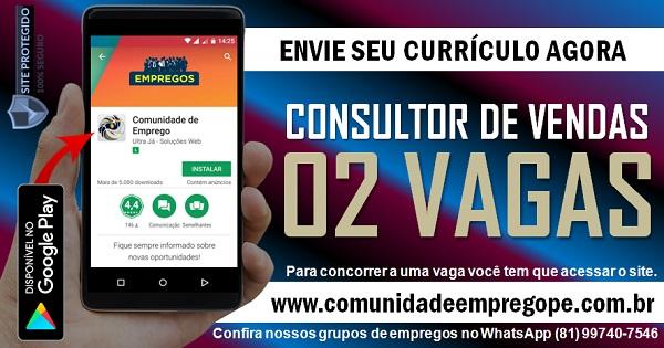 CONSULTOR DE VENDAS AUTOPEÇAS, 02 VAGAS PARA COMÉRCIO EM OLINDA