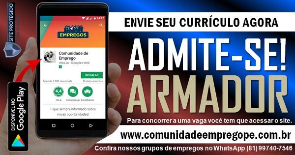 ARMADOR PARA EMPRESA PRESTADORA DE SERVIÇOS EM RECIFE E REGIÃO METROPOLITANA
