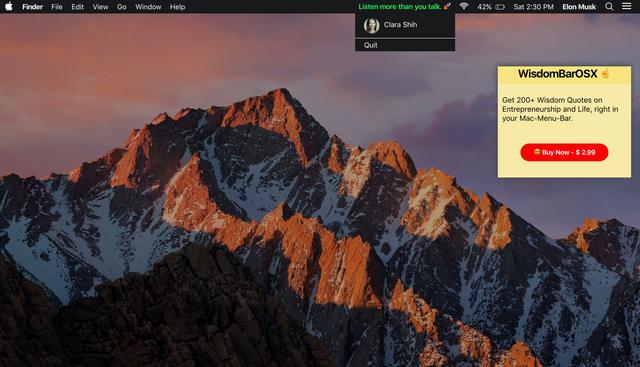 Wisdom Bar OS X