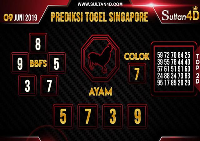 PREDIKSI TOGEL SINGAPORE SULTAN4D 09 JUNI 2019