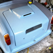 1973 AC Model 70 Engine Cover Refitted