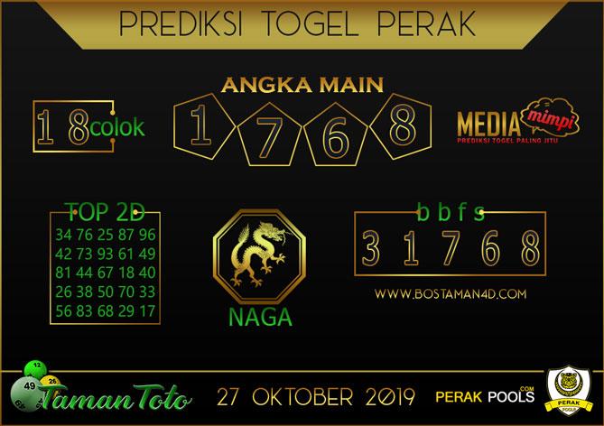 Prediksi Togel PERAK TAMAN TOTO 27 OKTOBER 2019