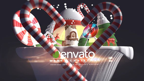 3d Cartoon Christmas Logo 29348492 - Project for After Effects (Videohive)