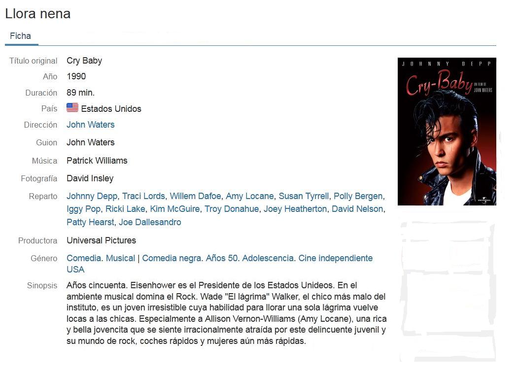 "[Clásico] Cry Baby ""LLora Nena"" (1990) 720p Latino"