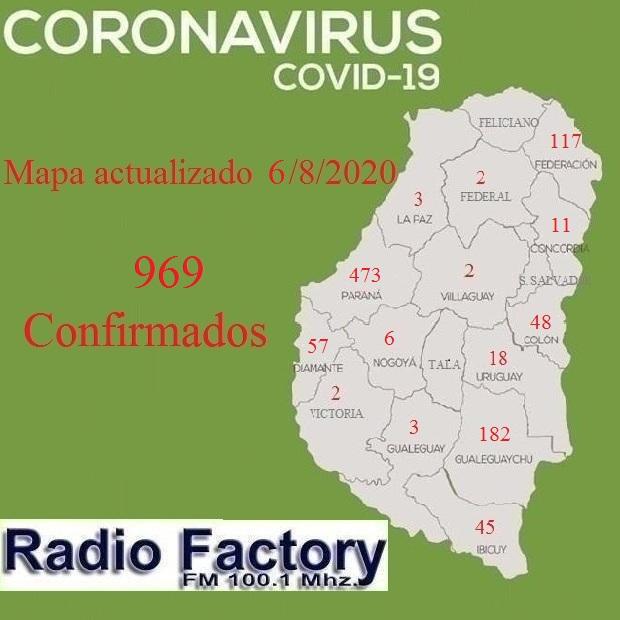 Provinciales: Coronavirus: Récord de contagios este jueves en Entre Ríos con 64 casos