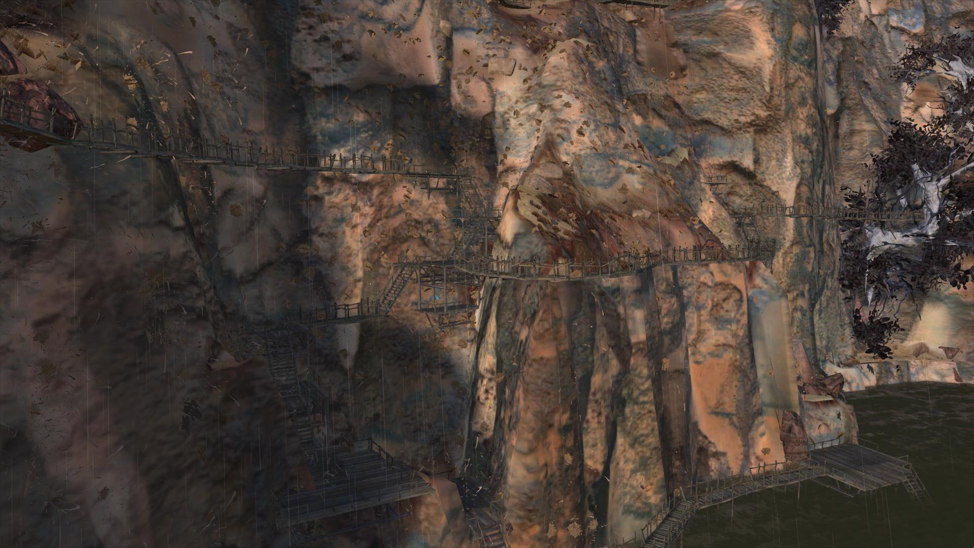 Cliffside Outpost / Сеть пешеходных дорожек