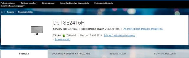 Problém monitor Dell SE2417HG