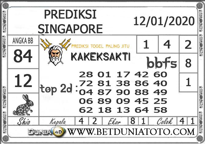 PREDIKSI TOGEL SINGAPORE DUNIA4D 12 JANUARI 2020