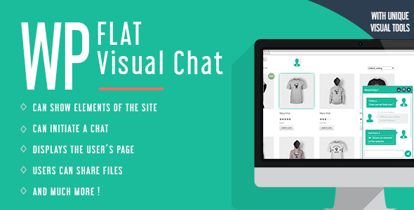 Flat Visual Chat