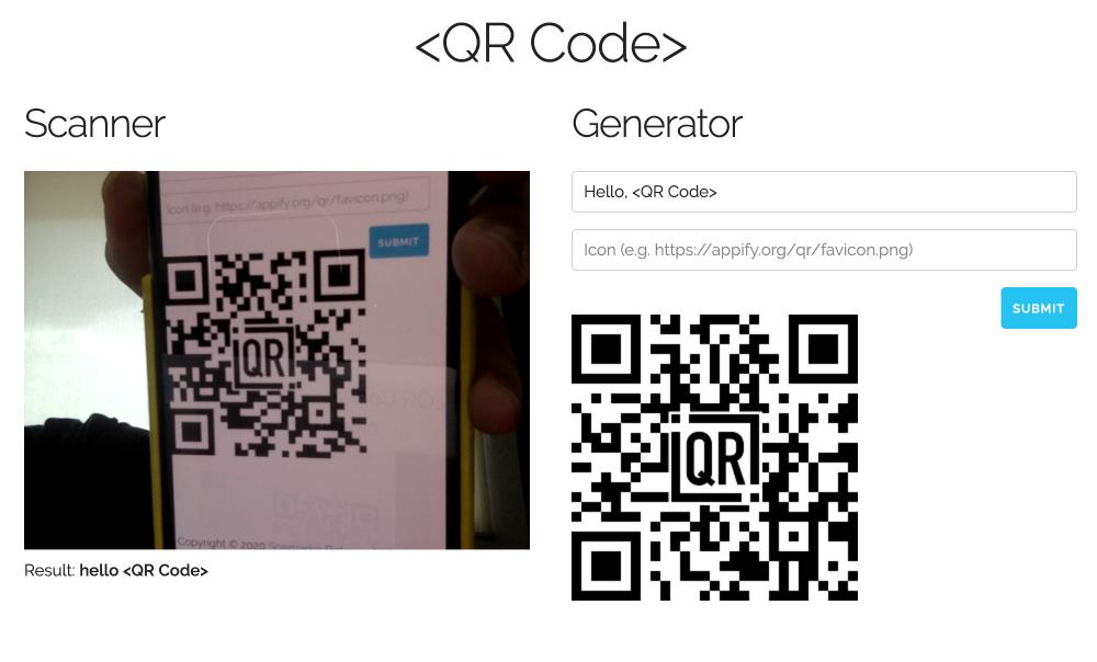 Online QR Code Scanner and Generator
