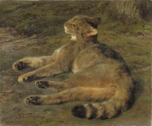 Rosa-Bonheur-Wild-Cat-1850-Meister-Druck