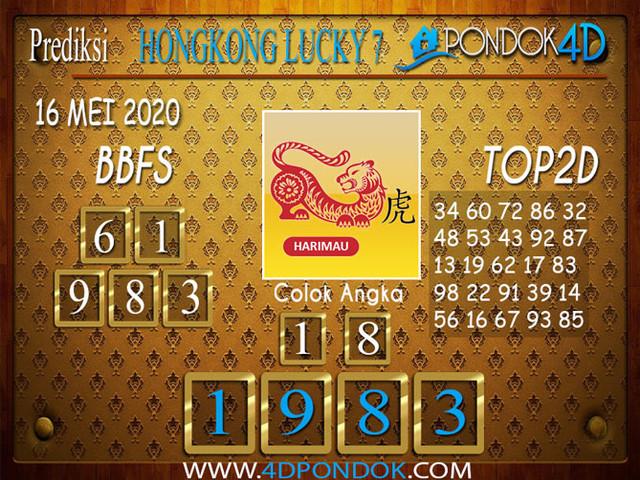 Prediksi Togel HONGKONG LUCKY 7 PONDOK4D 16 MEI 2020