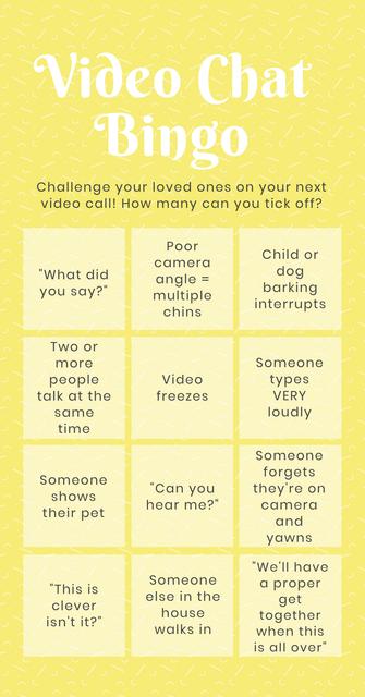 Video Chat Bingo