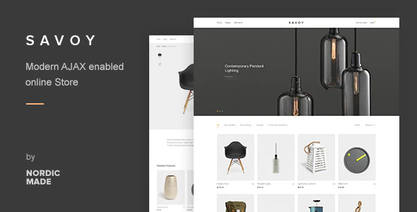 ThemeForest - Savoy v2.3.5 - Minimalist AJAX WooCommerce Theme - 12537825