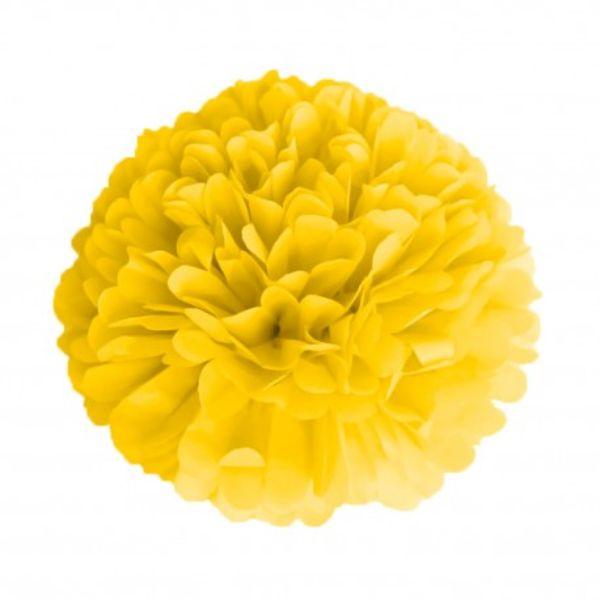 პომპონი ყვითელი 15სმ
