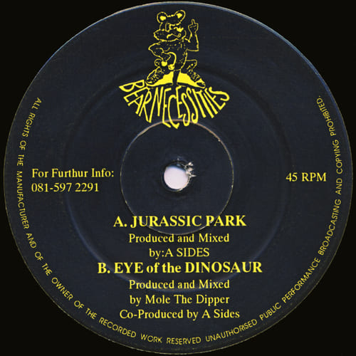 A Sides / Mole The Dipper - Jurassic Park / Eye Of The Dinosaur