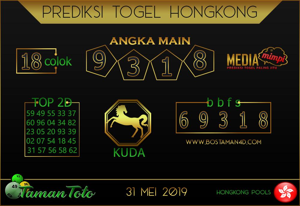Prediksi Togel HONGKONG TAMAN TOTO 31 MEI 2019