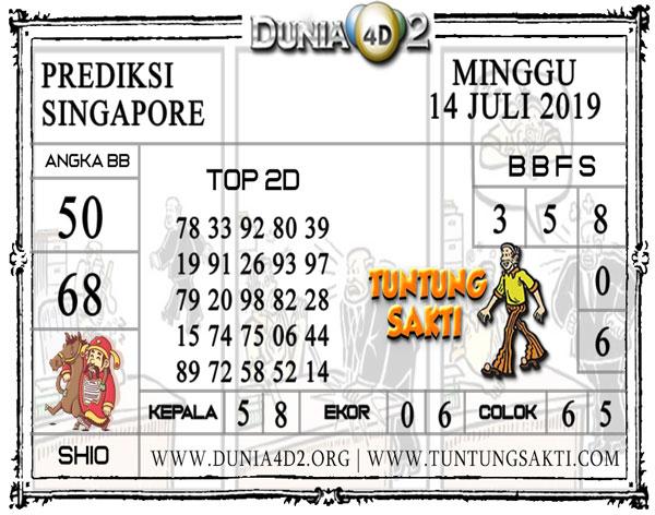 """Prediksi Togel """"SINGAPORE"""" DUNIA4D2 14 JULI 2019"""