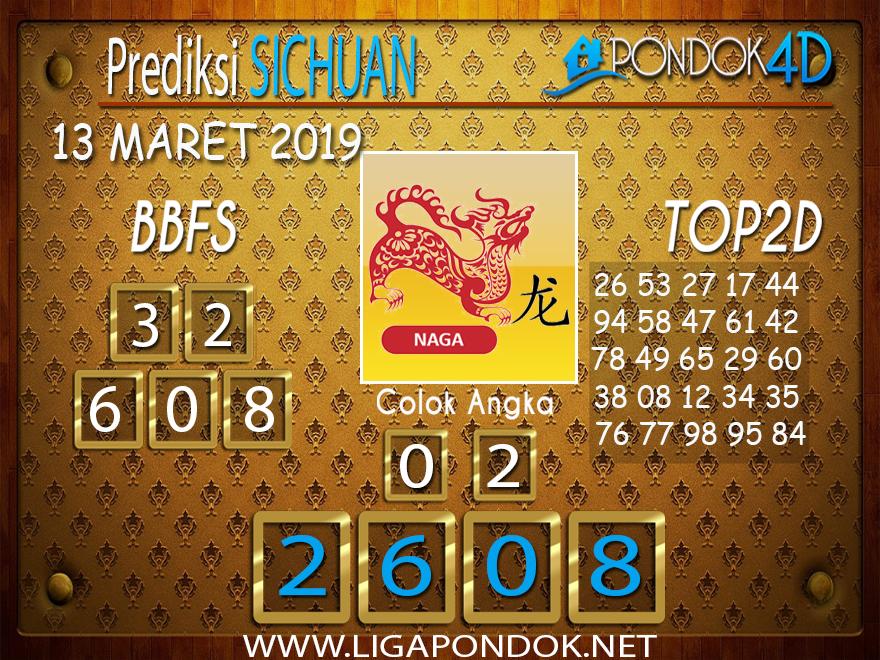 Prediksi Togel SICHUAN PONDOK4D 13 MARET 2019