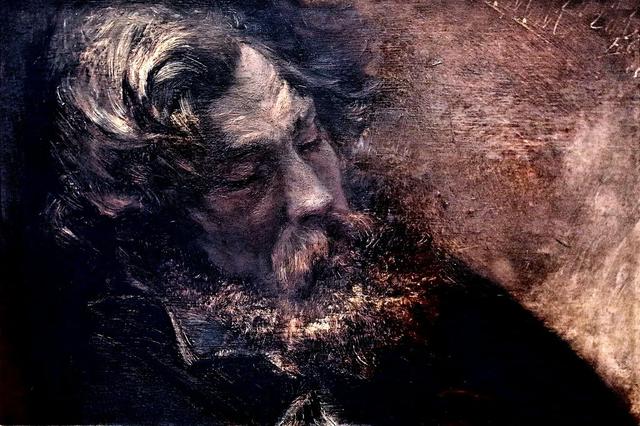 картина Адольф фон Менцель. Голова спящего