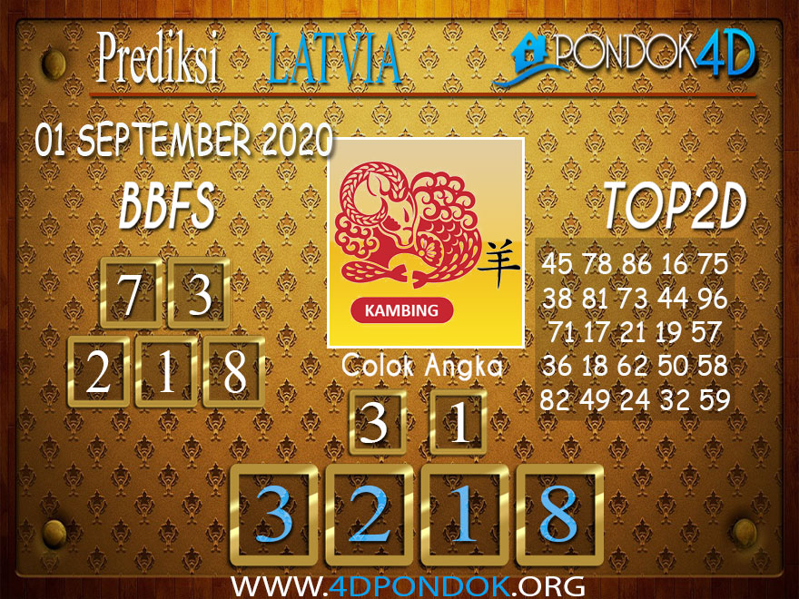 Prediksi Togel LATVIA POOLS PONDOK4D 02 SEPTEMBER 2020