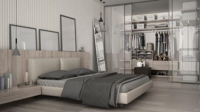 Classic-minimal-bedroom-with-walk-in-closet