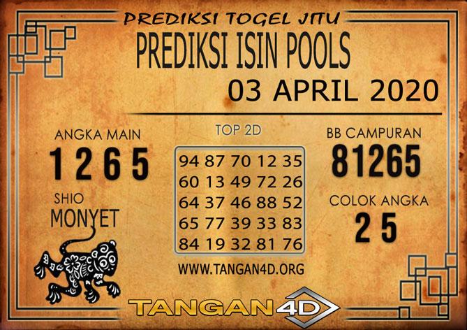 PREDIKSI TOGEL ISIN TANGAN4D 03 APRIL 2020