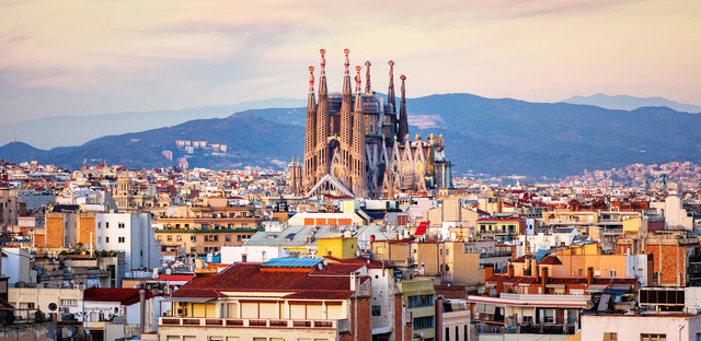 Barcelona at golden hour credit i stock eloi omella