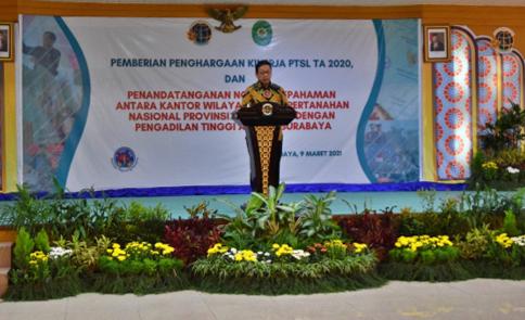 MOU Inovasi Pelayanan Terpadu Pengadilan Tinggi Agama Surabaya Dengan Kanwil Pertanahan Jawa Timur