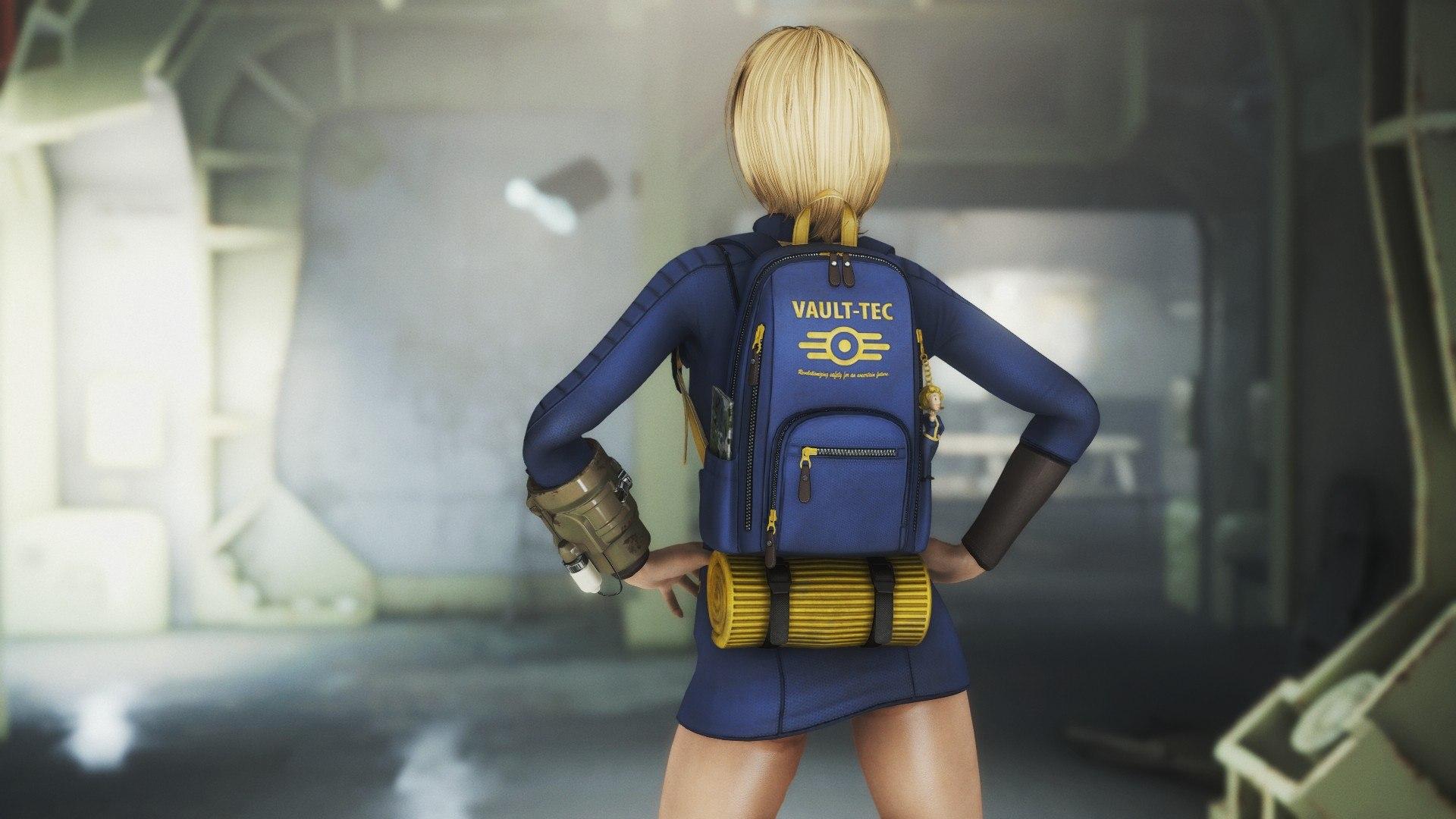 Скачать Одежда убежища 111 от DeserterX / Vault 111 Outfit CBBE