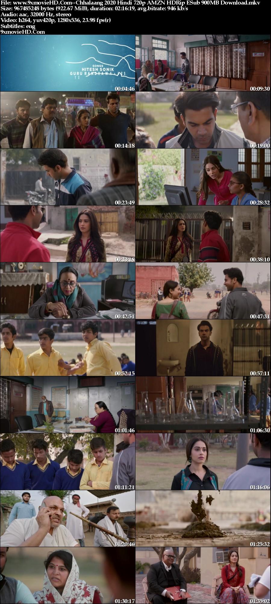 www-9xmovie-HD-Com-Chhalaang-2020-Hindi-720p-AMZN-HDRip-ESub-900-MB-Download