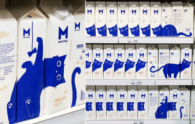 當你讓貓奴設計牛奶包裝的時候 Image
