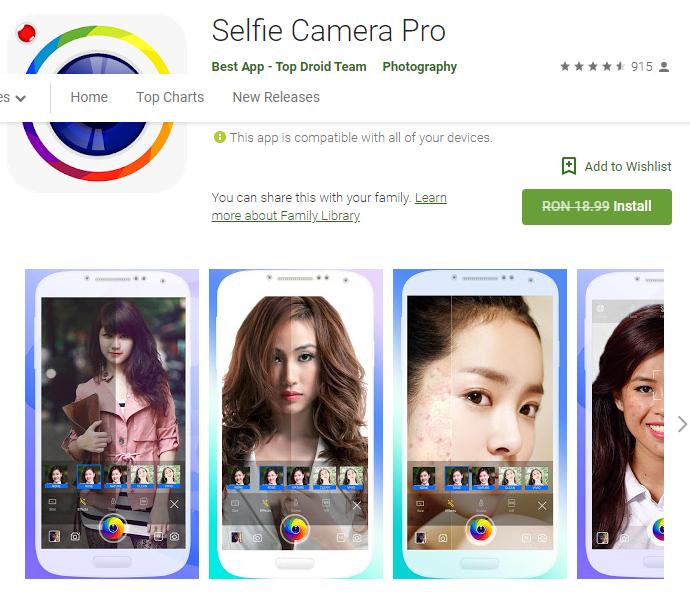 Selfie Camera Pro - Full Android App