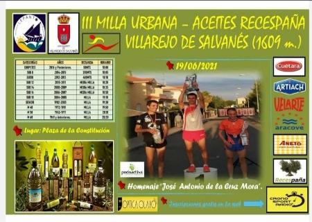 La III Milla Urbana de Villarejo de Salvanés se celebrará el 19 de Junio de manera gratuita