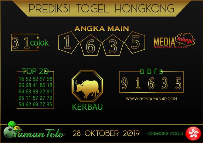 Prediksi Togel HONGKONG TAMAN TOTO 28 OKTOBER 2019
