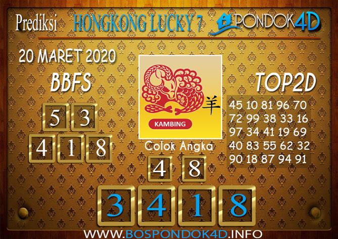 Prediksi Togel HONGKONG LUCKY 7 PONDOK4D 20 MARET 2020