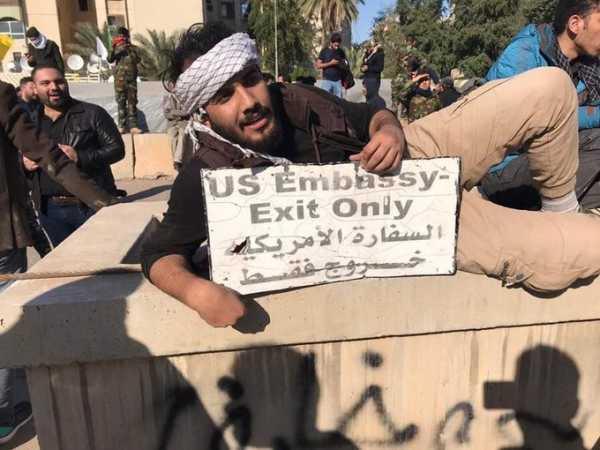 Антиамериканская протестная акция в Багдаде