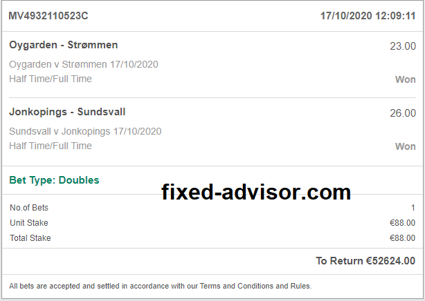 Fixed Matches Sure Odds