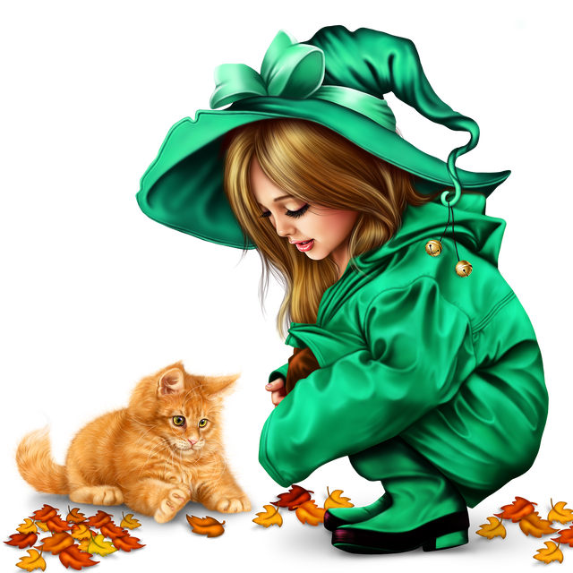 little girl in raincoat with a kitty png 18f99f9b63c7e94177.png