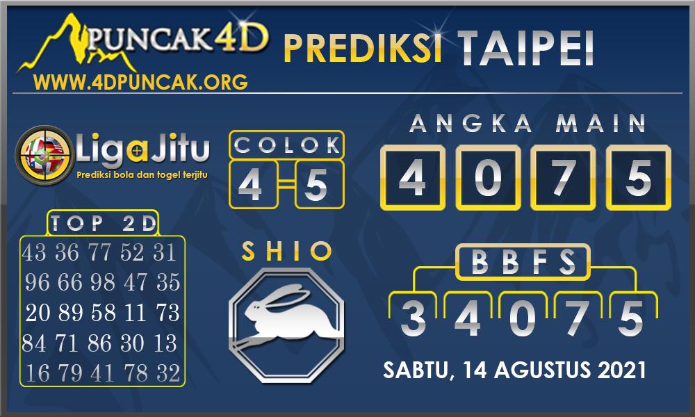 PREDIKSI TOGEL TAIPEI PUNCAK4D 14 AGUSTUS 2021