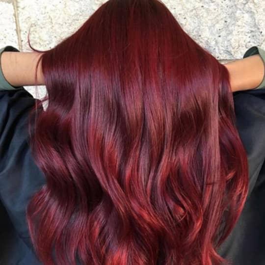 burgundy -hair-color