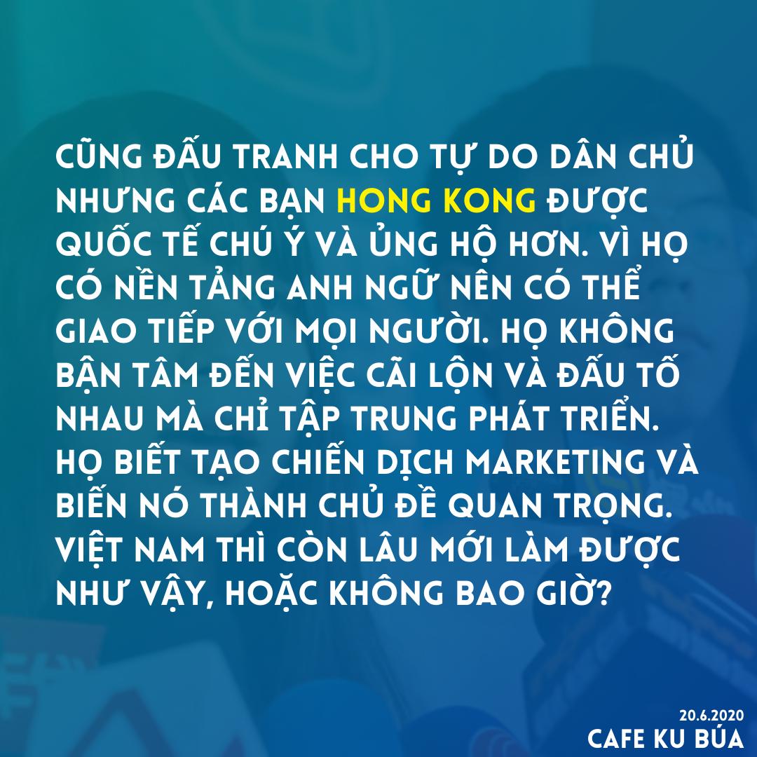 ĐẤU TRANH DÂN CHỦ HONG KONG VÀ VIỆT NAM