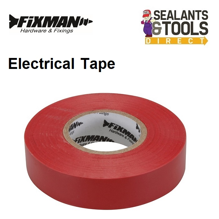 Fixman Electrical Insulation Tape Red 191784