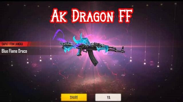 Cara Mendapatkan AK Blue Flame Draco FF Terbaru Dengan Mudah